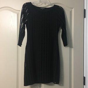 Black dress w super cute hole details size small